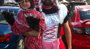 Hilarious Halloween Costume: Little Red Riding Hood and the Big bad Wolf
